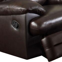 Coney Coffee Italian Leather Reclining Sofa and Loveseat