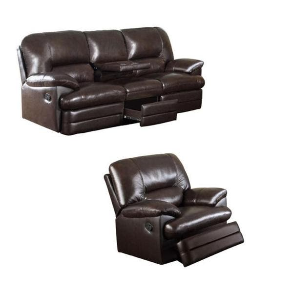 Astonishing Coney Coffee Italian Leather Reclining Sofa And Recliner Chair Creativecarmelina Interior Chair Design Creativecarmelinacom