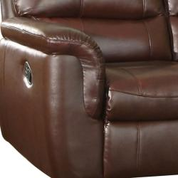 Concorde Wine Leather Reclining Sofa, Loveseat and Reclining Chair