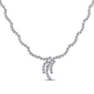 Miadora Signature Collection 18k White Gold 5 3/4ct TDW Diamond Necklace (G-H, SI1-SI2)