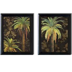 Patricia Pinto 'Palms I and II' Framed 2-piece Canvas Art Set