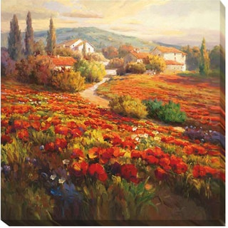 Roberto Lombardi 'Poppy Fields' Canvas Art