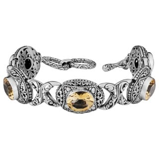 Sterling Silver 'Cawi' Citrine Toggle Bracelet (Indonesia)