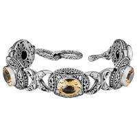 Handmade Sterling Silver Citrine Cawi Toggle Bracelet (Indonesia)