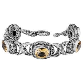 Handmade Sterling Silver 'Cawi' Citrine Toggle Bracelet (Indonesia)