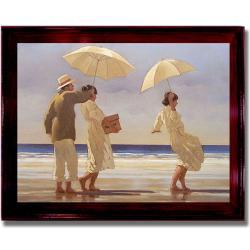 Jack Vettriano 'The Picnic Party' Framed Canvas Art (Option: Mahogany - Brown)