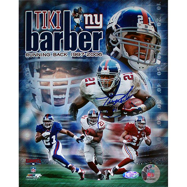 Steiner Sports Tiki Barber Authentic Autographed Photo