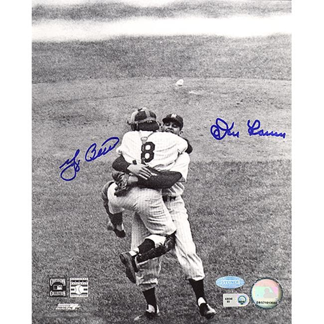 Steiner Sports Yogi Berra and Don Larsen Autographed Baseball Photo