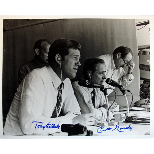 Steiner Sports Curt Gowdy/ Tony Kubek Autographed Photo