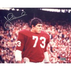 Alabama Crimson Tide John Hannah Autographed Photo