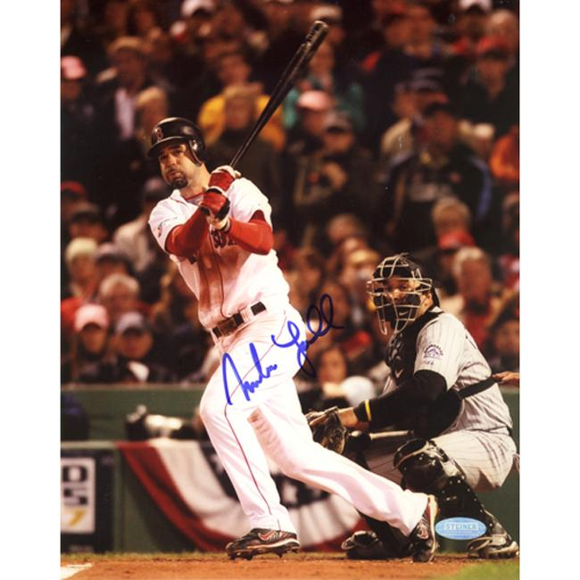 Steiner Sports Mike Lowell Swinging Autographed Photo