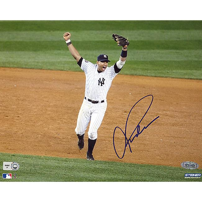 Steiner Sports Alex Rodriguez Autographed 2009 World Series Photo