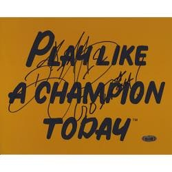 Notre Dame Ricky Watters Autographed 'Play Like a Champion Today' Poster 'Go Irish' - Thumbnail 0