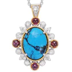 Michael Valituttli 18k Gold over Silver Multi-gemstone Necklace