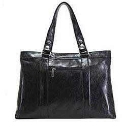 Nunzia Women's Giana Black 15.4-inch Laptop Tote Bag
