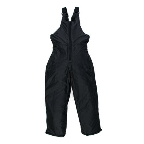 Sledmate Youth Black Nylon/ Polyester Snow Bib with Front Zipper
