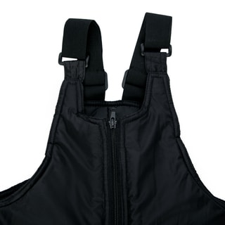 Sledmate Youth Black Nylon/ Polyester Snow Bib with Two-way Front Zipper