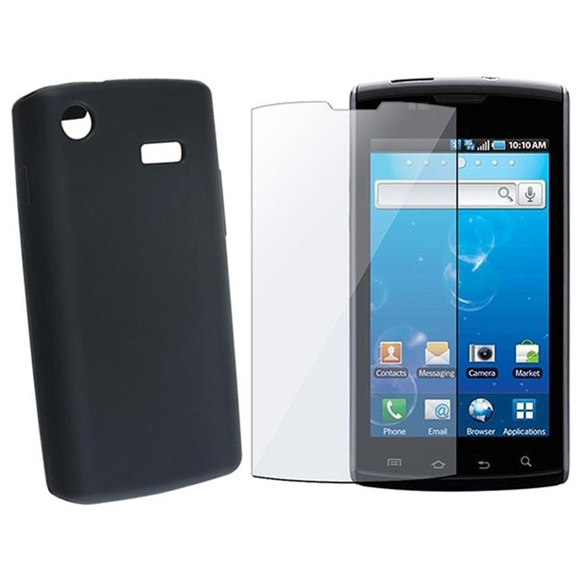 INSTEN Soft Silicone Phone Case Cover/ Screen Protector for Samsung i897 Captivate