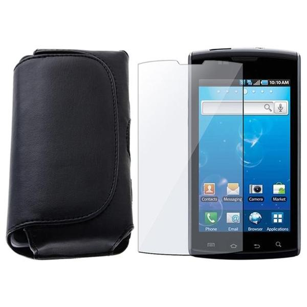 INSTEN Leather Phone Case Cover/ Screen Protector for Samsung i897 Captivate