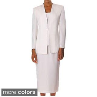 Divine Apparel Women's Classic 3-piece Skirt Suit