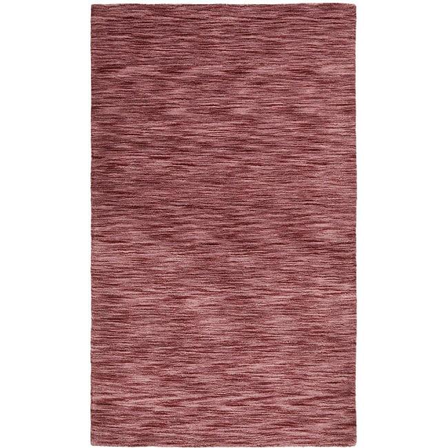 Hand-tufted Purple Fusion Wool Rug (5' x 8')