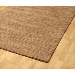 Hand-tufted Brown Fusion Wool Rug (5' x 8') - Thumbnail 1