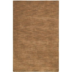 Hand-tufted Brown Fusion Wool Rug (5' x 8')