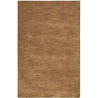 Hand-tufted Brown Fusion Wool Rug - 5' x 8'