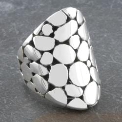 Sterling Silver Long Bubbled 'Cawi' Ring (Indonesia)