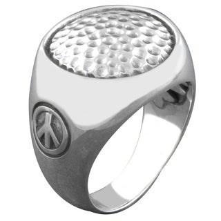 Handmade Sterling Silver Hammered Cawi Ring Indonesia