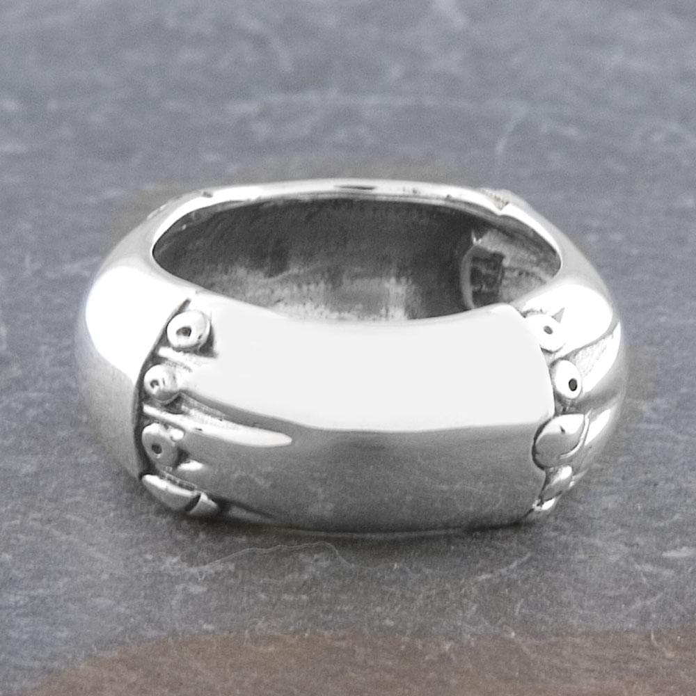 Handmade Sterling Silver 'Cawi' Band Ring (Indonesia)