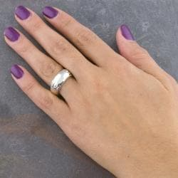 Handmade Sterling Silver 'Cawi' Band Ring (Indonesia) - Thumbnail 2