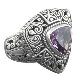 Handmade Sterling Silver Amethyst 'Cawi' Ring (Indonesia)|https://ak1.ostkcdn.com/images/products/5498649/P13282399.jpg?impolicy=medium