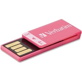 Verbatim 4GB Clip-It USB Flash Drive - Pink