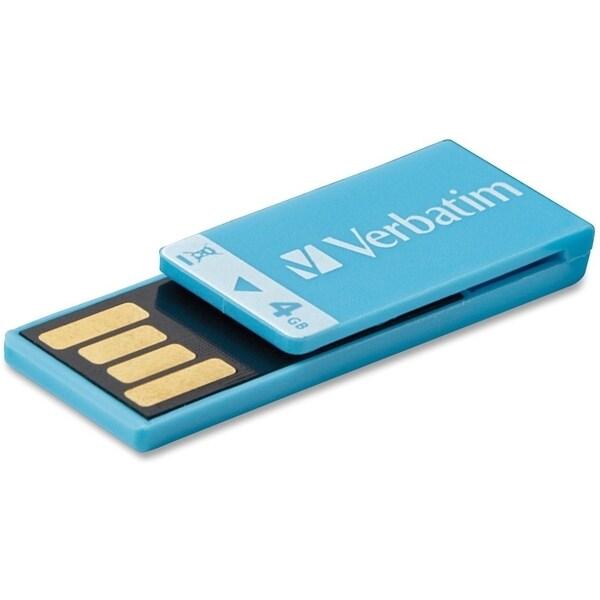 Verbatim 4GB Clip-It USB Flash Drive - Blue
