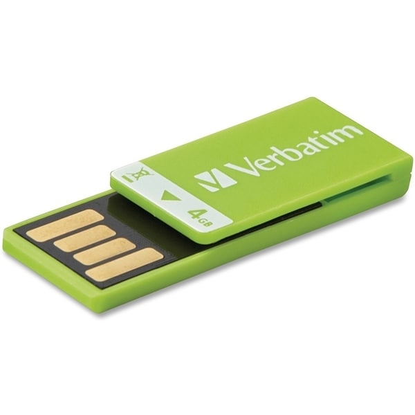 Verbatim 4GB Clip-It USB Flash Drive - Green