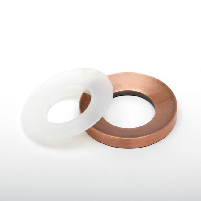 Geyser Copper Mounting Ring for Vessel Sink