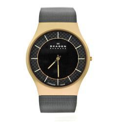 Skagen Men's Black Stainless Steel Watch