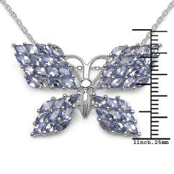 Malaika Sterling Silver Butterfly Tanzanite Necklace