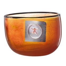 Kosta Boda Orange 'Jupiter' Bowl - Thumbnail 1