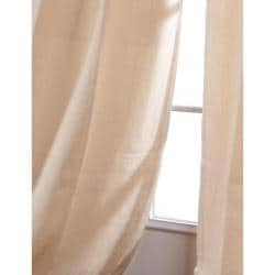 Exclusive Fabrics Casual Cream Cotton Linen 96-inch Curtain Panel