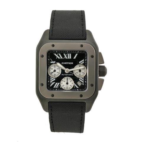 Cartier Men's Santos 100 Titanium and Stainless Steel Watch