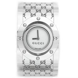 Gucci YA112413 Women's Twirl Series Wide Bangle Stainless Steel Watch - Thumbnail 1