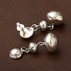 Peyote Bird Designs Sterling Bead Drop Earrings (USA) - Thumbnail 1