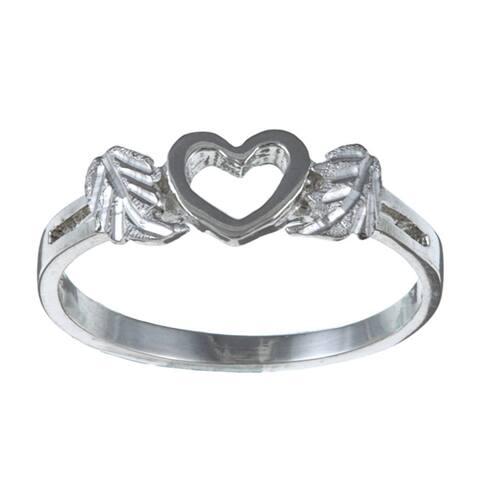 Black Hills Silver Heart Cutout Ring