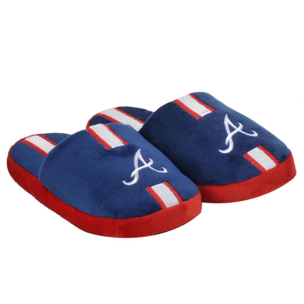 MLB Atlanta Braves Striped Slide Slippers