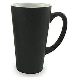 Funnel Style Black 16-oz Ceramic Mugs (Pack of 4)