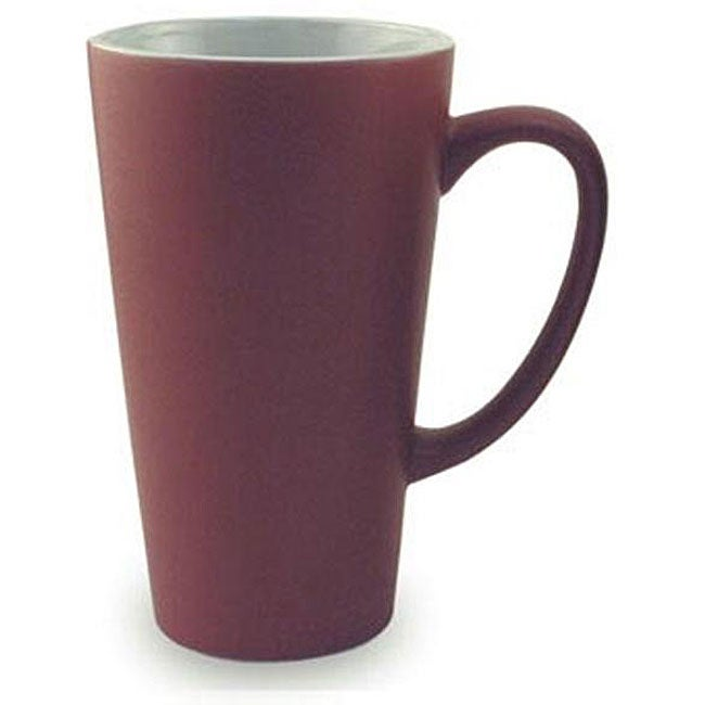 Funnel Style Maroon 16-oz Ceramic Mugs (Pack of 4)