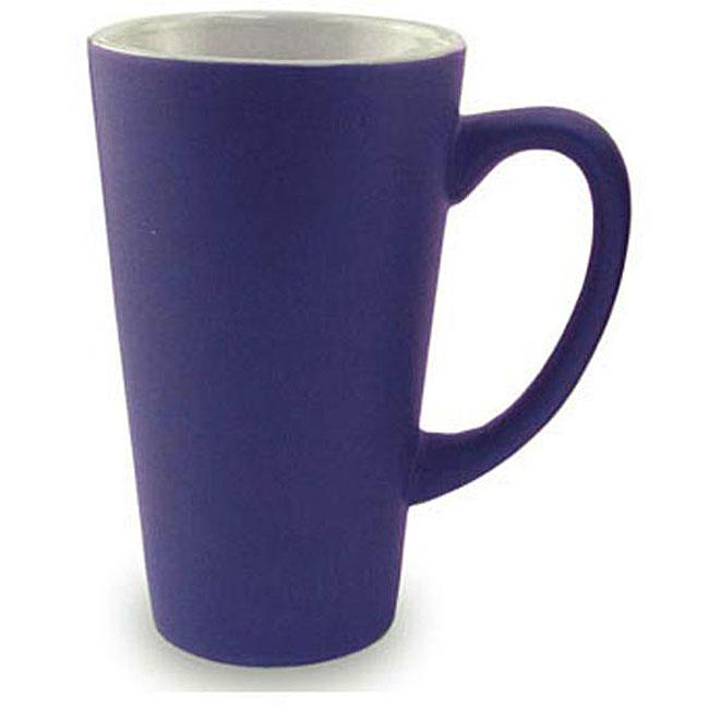 Funnel Style Cobalt 16-oz Ceramic Mugs (Pack of 4)