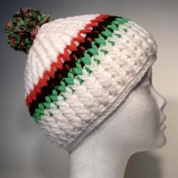 Cotton and Wool Striped Beanie (Nepal)